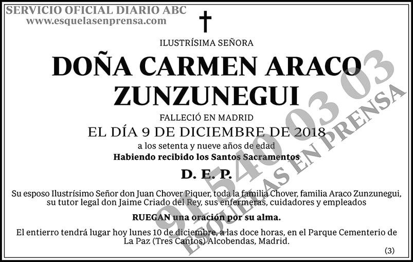 Carmen Araco Zunzunegui